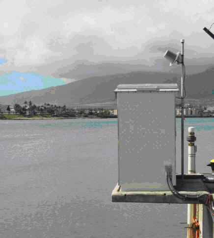 Kahului, HI water level station that collects 1-minute sea level data ©NOAA/NOS/CO-OPS